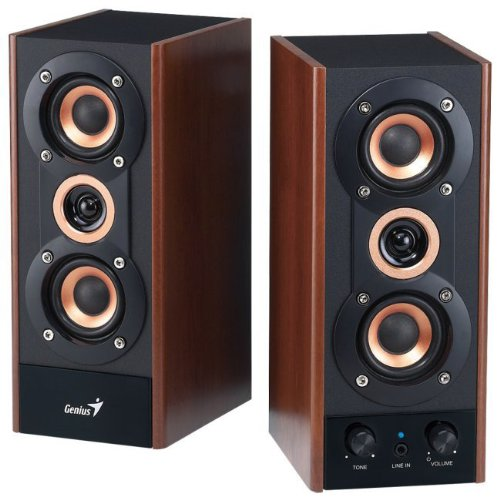 Genius 3-Way Hi-Fi Wood Speakers